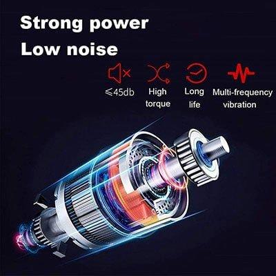 Motor được cải tiến giảm thiểu tiếng ồn, tăng tuổi thọ sử dụng cho pin, dùng công nghệ rung cộng hưởng tạo ra lực đánh vào các cơ quan đang mỏi trên cơ thể.